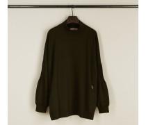 Sweatshirt mit Stehkragen 'Page' Khaki