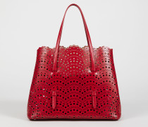 Tasche 'Min. Vienne' gestanztes Leder Rot