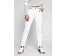 Skinny Fit Jeans Weiß