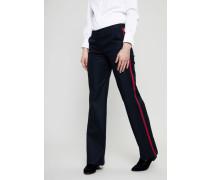 Bügelfaltenhose 'Rooney Stripe' Marineblau