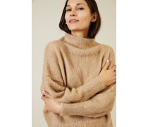 Woll-Cashmere-Pullover mit Turtle-Neck Camel