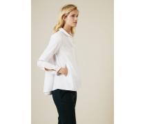 Weiße Baumwoll-Bluse - 100% Baumwolle