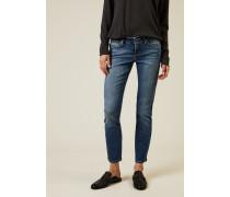 Jeans 'Liu' Blau - Leder