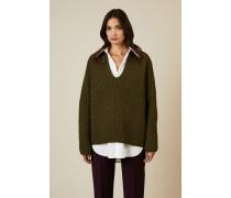 Oversize Woll-Pullover 'Deborah' Khaki