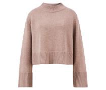 Woll-Cashmere Pullover mit Rundhalsausschnitt Taupe