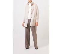 Woll-Cashmere-Mantel mit Strickdetails Beige