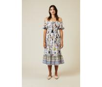 Baumwoll-Kleid 'Meadow' mit floralem Print Multi
