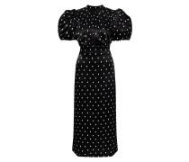 Viskose-Kleid 'Dawn' mit Polka-Dots /Weiß