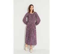 Langes Kleid mit Print Multi