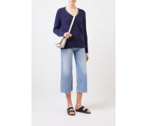 Cashmere-Pullover 'Fanchon' mit V-Neck Blau