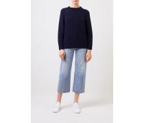 Rippstrick Cashmere-Pullover 'Francisca' Blau