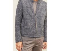 Woll-Cardigan mit Glitzerfaden-Detail Blau - Cashmere
