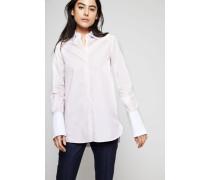 Klassische Bluse Rosé - 100% Baumwolle