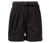 Shorts mit Bundfalten 'Rowanne Cotton Twill' Schwarz