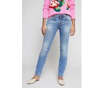 Skinny Jeans 'Alison' Mittelblau