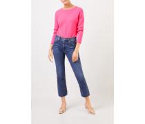 Cashmere-Pullover mit R-Neck Pink
