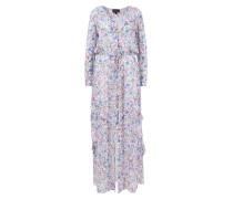 Seidenkleid 'Izzie' mit floralem Pint Weiß/Multi