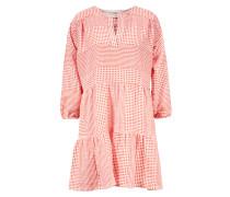 Popover Kleid ' Semira' Rot/Weiß