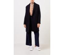 Klassischer Cashmere-Mantel Marineblau