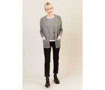 Cashmere-Cardigan mit V-Ausschnitt Grau