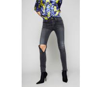 Skinny-Jeans im Distressed-Stil Vintage Grey