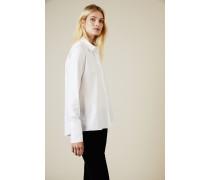 Baumwoll-Bluse Weiß -