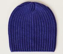 Grobstrick-Mütze 'Amelia' Royalblau - Cashmere