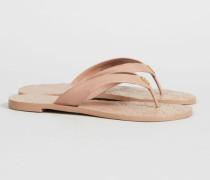 Sandale 'Monroe Thong' Nude - Leder