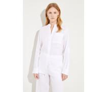 Oversize Leinen-Bluse Weiß