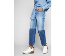 Cropped Jeans Blau