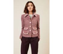 Tweed-Blazer mit Taschen-Details Rosé