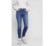 Jeans 'Parla Short' mit Silberdetails Mittelblau