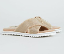 Verzierte Pantolette '82 Sand Road' Beige - Leder