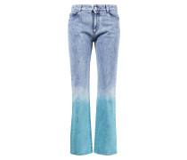Mid Rise Jeans mit Farbverlauf Blau/Türkis