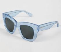 Sonnenbrille 'Library Metal' Blue Glitter - Leder
