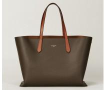 Shopper 'GV' Heather Grey - Leder