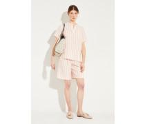 Gestreiftes Leinen-Shirt 'Bella' Rosé/Weiß