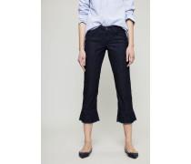 Jeans 'Lucille' mit Volantdetails Dunkelblau