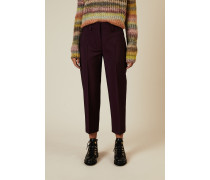 Woll-Hose Violett 73% Wolle - 27% Mohair Futter: -