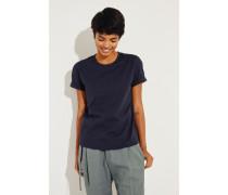 Schlichtes Baumwoll T-Shirt Marineblau