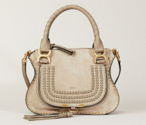 Handtasche 'Marcie Small' Motty Grey - Leder