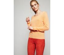 Leichter Cashmere-Pullover 'Cosima' Papaya - Cashmere