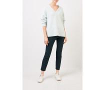 Cashmere-Pullover mit V-Neck Mint