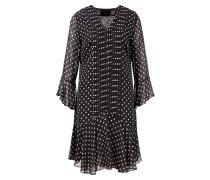 Kleid 'Estelle Fashionista' mit Punkten Schwarz/Beige