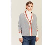 Cashmere-Cardigan Grau/Multi - Cashmere