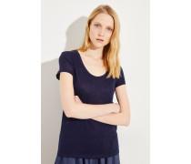 Leinen-Shirt Marineblau
