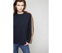 Baumwoll-Sweatshirt Blau/Bronze