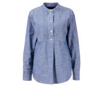 Jeansbluse 'Amabel' mit Biesendetail Blau