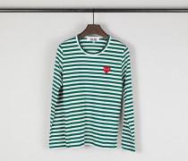 Gestreiftes Longsleeve Grün/Weiß - 100% Baumwolle