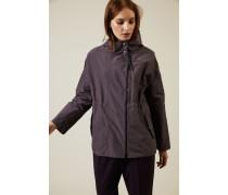 Leichte Oversize-Jacke in Violett - Seide